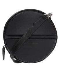 DSquared² Round Shoulder Bag With Logo - Zwart