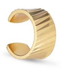 Jane Kønig Wide Reflection cuff, gold-plated sterling silver - Gelb