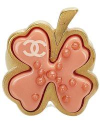 Chanel Vintage Bague Camélia - Orange
