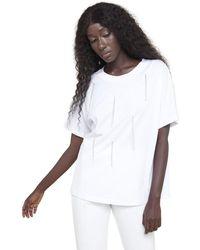 Silvian Heach T-shirt Ampia Con Dettagli - Wit