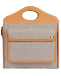 Burberry Pocket Medium Bag - Naturel