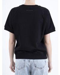 MM6 by Maison Martin Margiela Short sleeve Sweater Negro