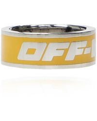 Off-White c/o Virgil Abloh Ring With Logo - Geel