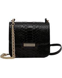 Clio Goldbrenner Aristote Python Effect Leather Bag - Zwart