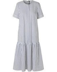Just Female Rialto placket dress - Blanc
