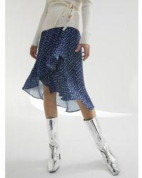 Catwalk Junkie Skirt Flower Azul