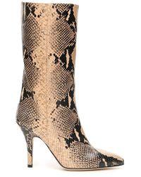 Paris Texas Python-print Boots - Naturel