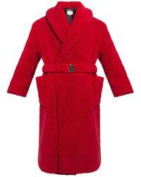 CASABLANCA Fur Coat - Rood