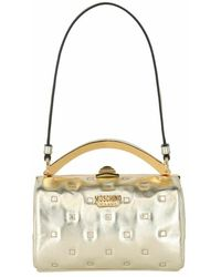 Moschino Metallic Quilted Shoulder Bag