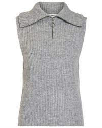 Object Objrachel knit vest - Gris