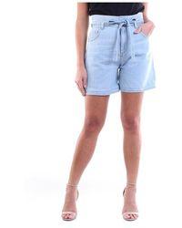 Manila Grace S0Zj001D8 bermuda Light jeans - Bleu
