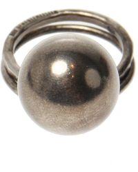 Ann Demeulemeester Silver Ring - Grijs