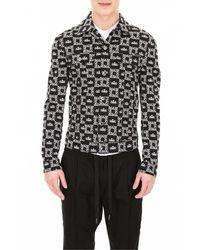 Dolce & Gabbana Logo Denim Jacket - Zwart