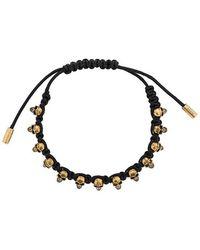 Alexander McQueen Skull Friendship Bracelet - Zwart