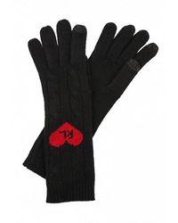 Polo Ralph Lauren Lange Handschoenen Met Hart - Zwart