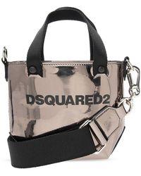 DSquared² Shoulder Bag With Logo - Grijs