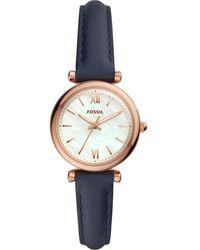 Fossil Watch Es4502 - Blauw
