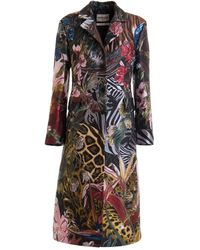 Roberto Cavalli - Jungle patterned coat - Lyst
