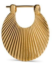 Jane Kønig Small Shell, Gold Plated Sterling Silver - Geel