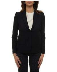 Majestic Filatures Jacket With 1 Button - Blauw