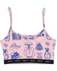 Obey Flash Tank Top - Pink