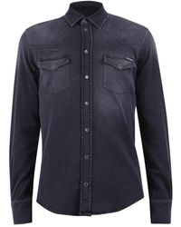 Dolce & Gabbana Denim Shirt - Zwart