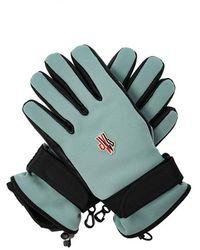 Moncler Handschoenen Met Logo - Blauw