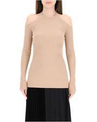 N°21 Sweater open on shoulder - Neutre