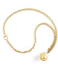 Chanel Vintage Ball Pendant Long Necklace - Marron