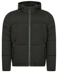 PS by Paul Smith Hooded Down Jacket - Zwart
