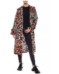 Moncler Patterned hooded coat Beige - Neutro