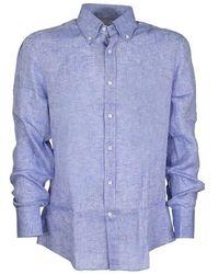 Brunello Cucinelli Button Down Shirt - Blauw