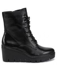 Tamaris Da Stiefel Heel Lace Boots - Zwart