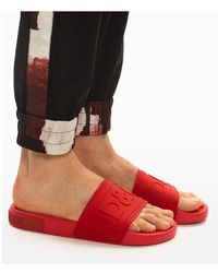 Dolce & Gabbana Toboganes ciabatta Rojo
