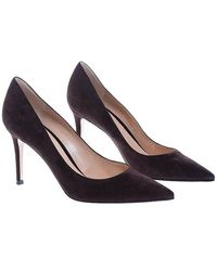 Gianvito Rossi Pumps With Pointed Toe 85 - Zwart