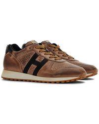 Hogan H429 Sneaker H Nastro Marrón
