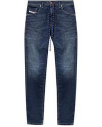 DIESEL Thommer Jogg-jeans Met Plooien - Blauw