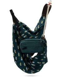 Undercover Shoulder bag w/ detachable pouch - Blau