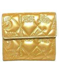Chanel Vintage Wallet - Geel