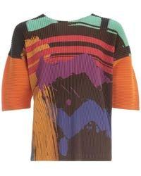Issey Miyake T-shirt Crew Neck - Naturel