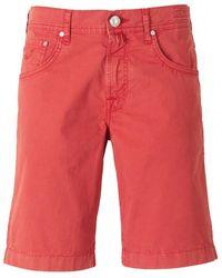 Jacob Cohen Denim Bermuda Shorts - Rood