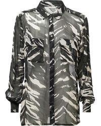summum woman Long sleeve shirt - Noir