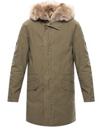 Yves Salomon Parka With Detachable Fur Lining - Groen