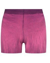 Cotton Citizen Worn-effect Shorts - Roze