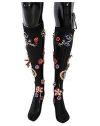 Dolce & Gabbana Chaussettes en cristal - Noir
