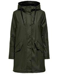 ONLY Raincoat Teddy Inside - Groen