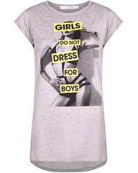 SUGARBIRD T-shirt Light Us Girls - Grijs