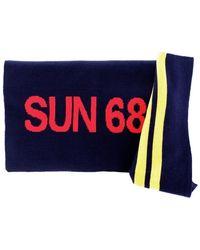 Sun 68 C29125 Scarf Men Blue Navy - Blauw