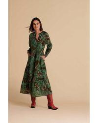 POM Amsterdam Sp6692 Urban Jungle Dress - Vert
