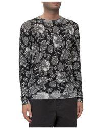 Laneus Sweater With Print - Zwart